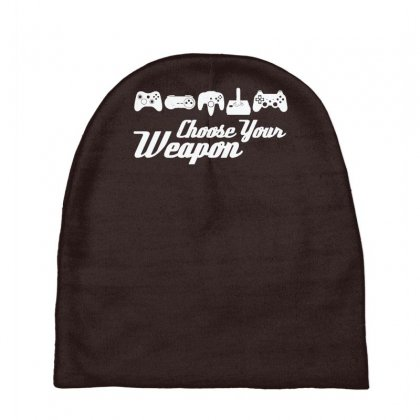 Choose Your Weapon Game Baby Beanies Designed By Gematees