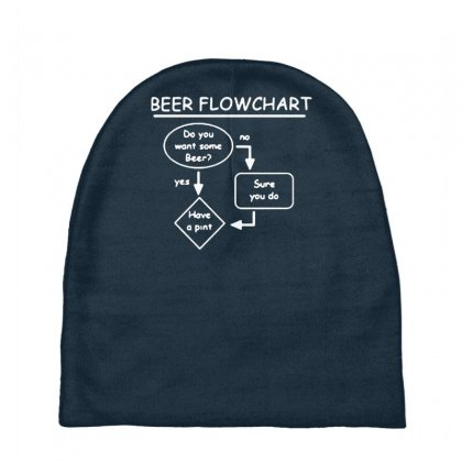 Beer Flowchart Funny Baby Beanies Designed By Gematees
