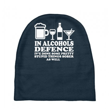 Alcohols Defence Baby Beanies Designed By Gematees