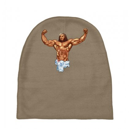 Strong Jesus Baby Beanies Designed By Gematees