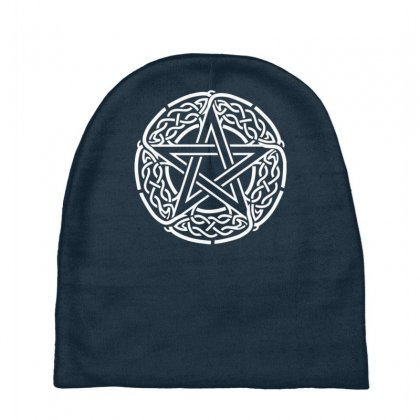 The Pentagram Star In Celtic Circle Baby Beanies Designed By Gematees