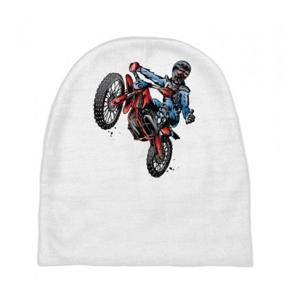 Motocross Dirt Bike Baby Beanies Designed By Gematees