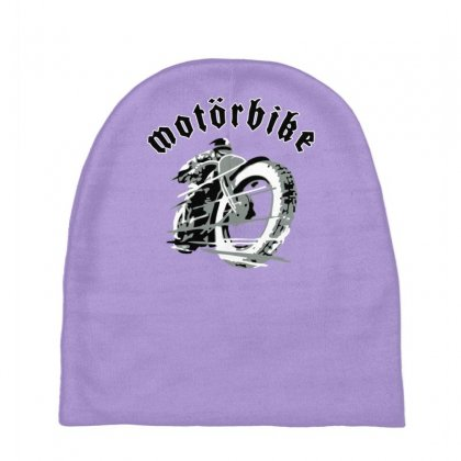 Motorbike Funny Baby Beanies Designed By Gematees
