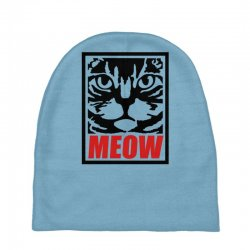 funny cat meow Baby Beanies   Artistshot