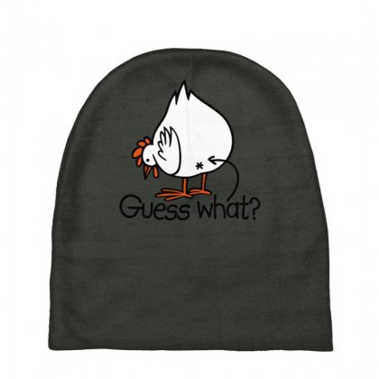 Guess What Funny Chicken Butt Baby Beanies Designed By Gematees