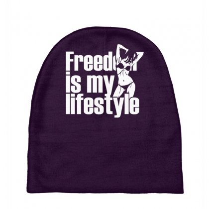 Freedom Is My Lifestyle Baby Beanies Designed By Gematees