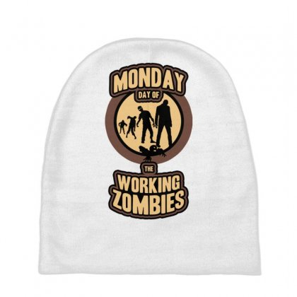 Day Of The Working Zombies Baby Beanies Designed By Gematees