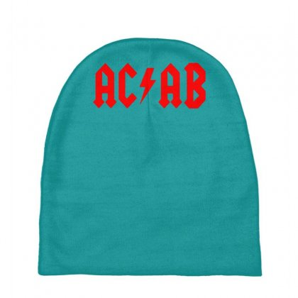 Ac Ab Skinhead Oi! Music Rock Band Logo Parody Baby Beanies Designed By Gematees