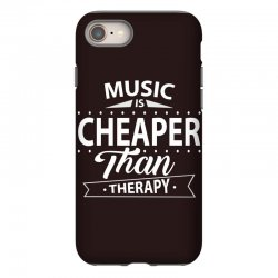 Music Is Cheaper Than Therapy iPhone 8 Case | Artistshot
