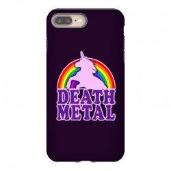 Funny Death Metal Unicorn Rainbow iPhone 8 Plus Case | Artistshot