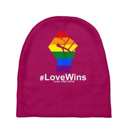 Love Wins 12th 2016 - Orlando Strong Baby Beanies | Artistshot