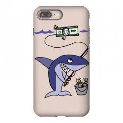 funny shark fishing for humans iPhone 8 Plus Case | Artistshot