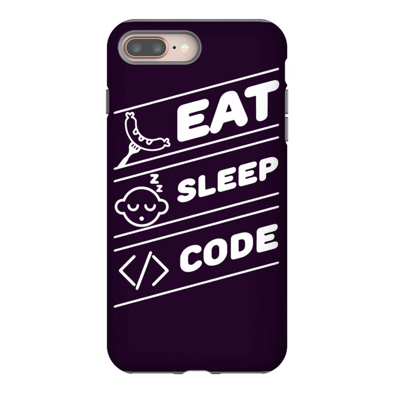 custom eat sleep code funny computer science programming coding iphone 8 plus by gematees. Black Bedroom Furniture Sets. Home Design Ideas