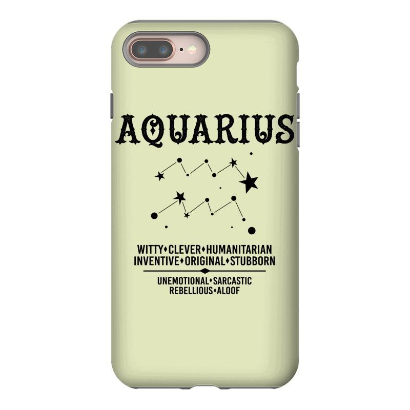 Custom Aquarius Zodiac Sign Iphone 8 Plus Case By Tshiart