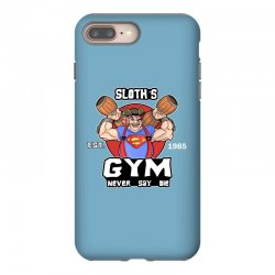 funny gym sloth the goonies fitness t shirt vectorized iPhone 8 Plus Case | Artistshot