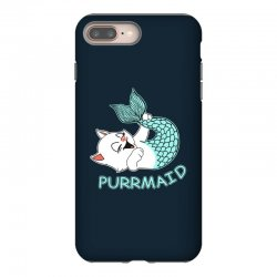 funny purr maid cat mermaid iPhone 8 Plus Case | Artistshot