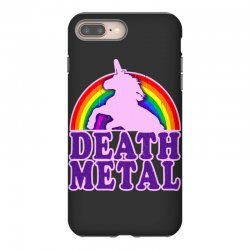 funny death metal unicorn rainbow iPhone 8 Plus Case | Artistshot