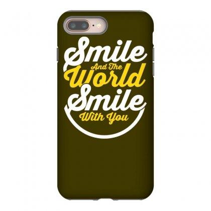 Smile World Iphone 8 Plus Case Designed By Tonyhaddearts