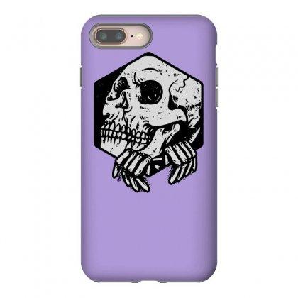 Skull Hexagon Iphone 8 Plus Case Designed By Tonyhaddearts