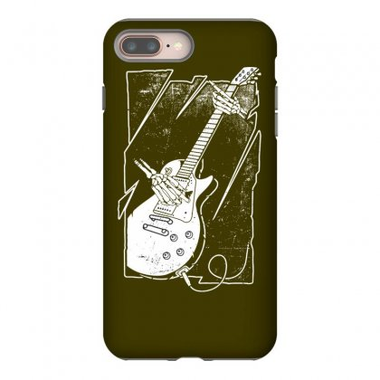 Skull Guitar Player Iphone 8 Plus Case Designed By Tonyhaddearts
