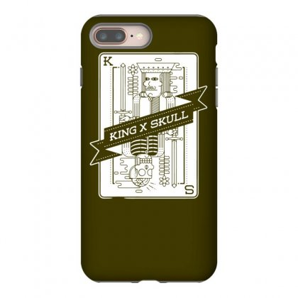 King And Skull Iphone 8 Plus Case Designed By Tonyhaddearts