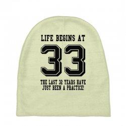 7f1ff359572 Custom 33rd Birthday Life Begins At 33 T-shirt By Killakam - Artistshot