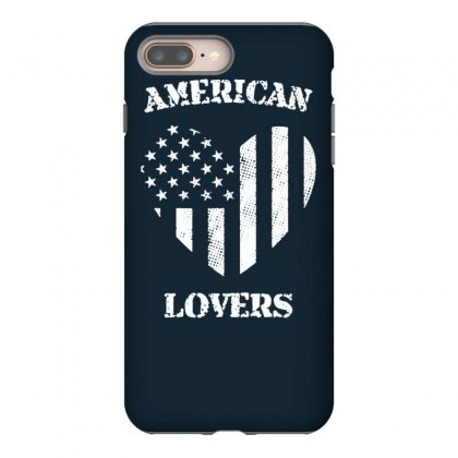 American Lovers Iphone 8 Plus Case Designed By Tonyhaddearts
