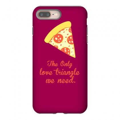 Pizza Love Triangle Iphone 8 Plus Case Designed By Tonyhaddearts