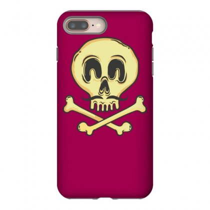 Funny Skull Mustache Iphone 8 Plus Case Designed By Tonyhaddearts