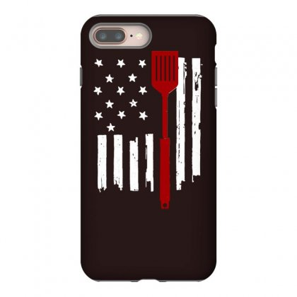 American Bbq Old Glory And Spatula Iphone 8 Plus Case Designed By Tonyhaddearts