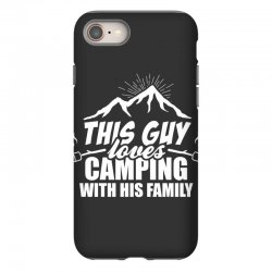 This Guy Loves Camping With His Family iPhone 8 Case | Artistshot