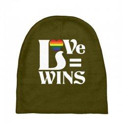 Love Wins Baby Beanies   Artistshot