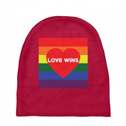 Love Wins Baby Beanies | Artistshot
