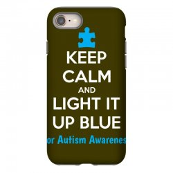 Keep Calm And Light It Up Blue For Autism Awareness iPhone 8 Case | Artistshot