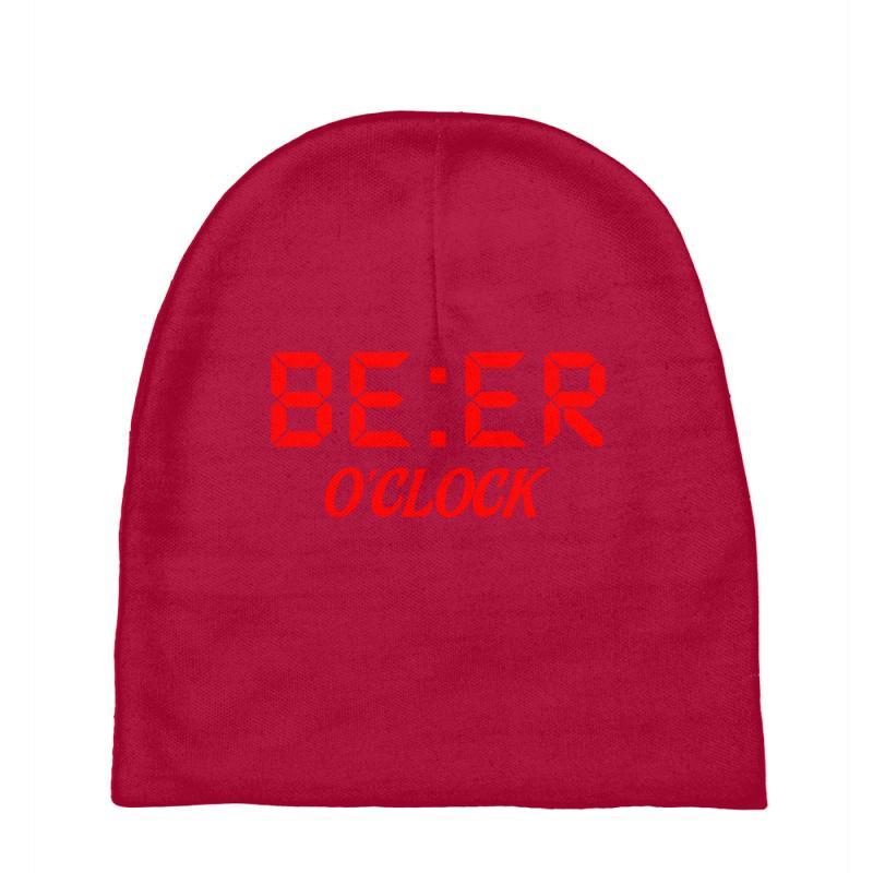 Beer O'clock Baby Beanies   Artistshot
