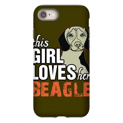 This Girl Loves Her Beagle Iphone 8 Case Designed By Killakam