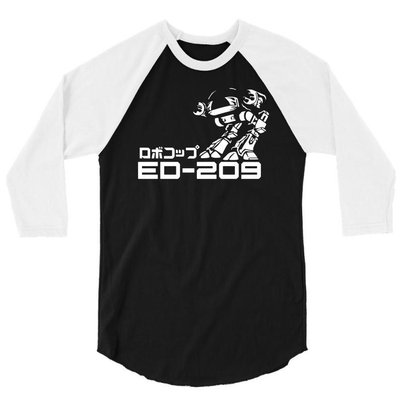 39907b9fc Custom Robocop Inspired Ed 209 3/4 Sleeve Shirt By Mdk Art - Artistshot