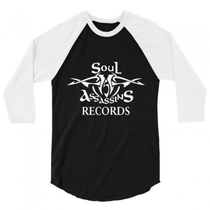 Soul Assassins Records 3/4 Sleeve Shirt Designed By Mdk Art