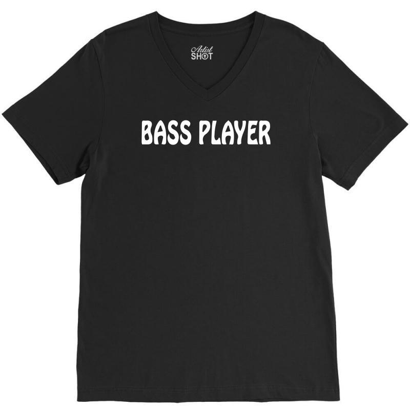 Bass Player V-neck Tee   Artistshot