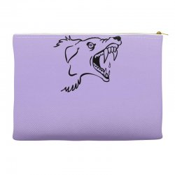 Screaming Mad Dog Accessory Pouches | Artistshot
