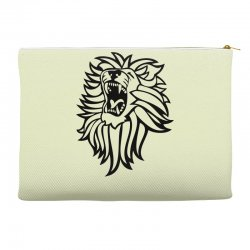 screaming lion Accessory Pouches | Artistshot