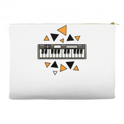 music,keyboard,electronic,piano,triangle,reflections,cute,vectorart, Accessory Pouches | Artistshot