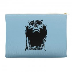 Screaming skull Accessory Pouches   Artistshot
