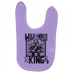 Wild World King Baby Bibs | Artistshot