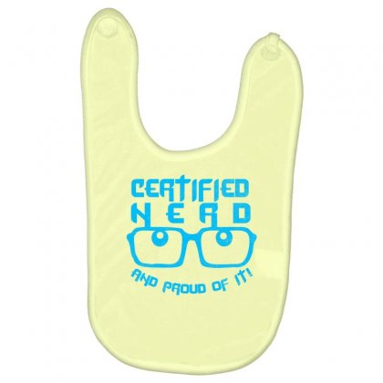 Certified Nerd Baby Bibs Designed By Specstore