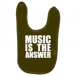 music is the answer Baby Bibs | Artistshot