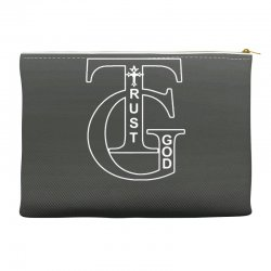 trust god t shirt Accessory Pouches | Artistshot