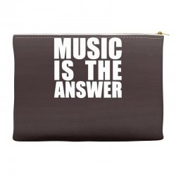 music is the answer printed Accessory Pouches | Artistshot