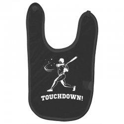 touchdown   funny sports Baby Bibs   Artistshot