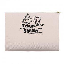 triangular sandwiches Accessory Pouches   Artistshot